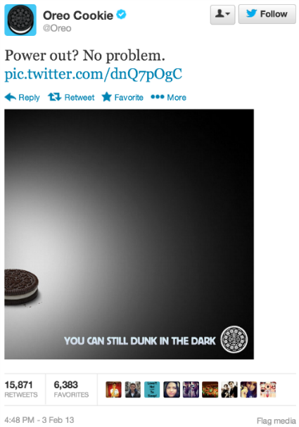 Real-time marketing example: Oreo